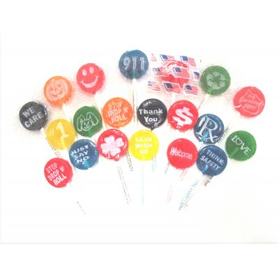 Image of Small Logo Lollipop with Printed Stick