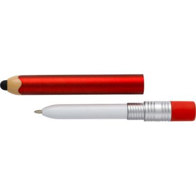 Image of Plastic ballpen with a rubber tip suitable for capacitive screens, black ink