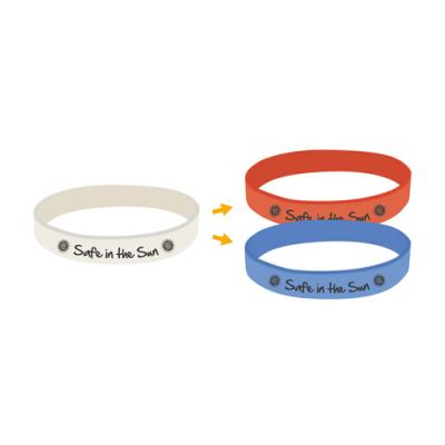 Image of UV Debossed Silicon Wristbands