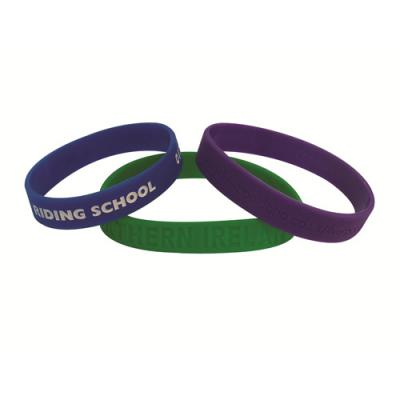 Image of Embossed Silicon Wristbands