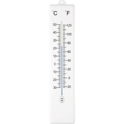 Image of Plastic outdoor thermometer.
