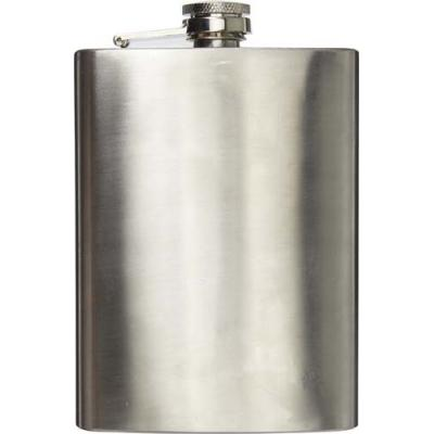 Image of Stainless steel hip flask (320 ml) with screw cap.