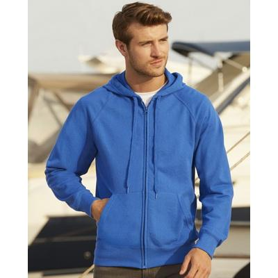 Image of Fruit Of The Loom Men's Lightweight Hooded Raglan Sweat Jacket