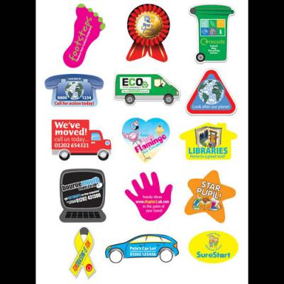 Image of Rectangular Paper Stickers: 33 x 62mm 24 per sheet