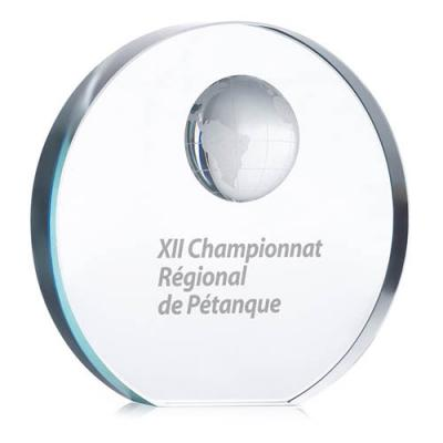 Image of Globe glass trophy