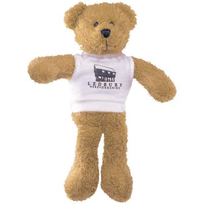 "Image of 9"" Scraggy Bear with White T Shirt"