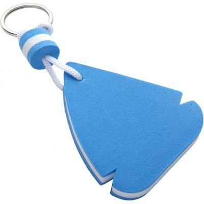 Image of EVA sail ship shaped, floating key chain