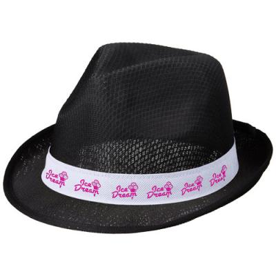 Image of Trilby hat with ribbon