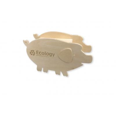 Image of Wooden Piggy Bank